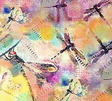 Dragonflies by Betsy  Seeton