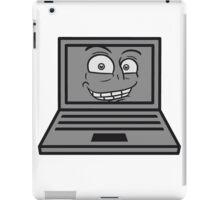 face, comic cartoon grin computer laptop notebook pc write screen mobile tablet iPad Case/Skin
