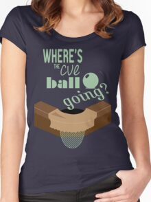 Where's the cue ball going? Women's Fitted Scoop T-Shirt