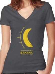 Banana for scale Women's Fitted V-Neck T-Shirt