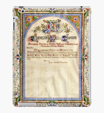 Illuminated wedding souvenir, 1876 iPad Case/Skin