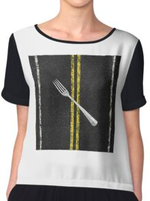 Fork In Road Chiffon Top
