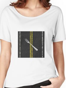 Fork In Road Women's Relaxed Fit T-Shirt