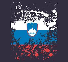 Slovenia Flag Ink Splatter Unisex T-Shirt