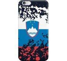 Slovenia Flag Ink Splatter iPhone Case/Skin