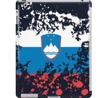Slovenia Flag Ink Splatter iPad Case/Skin