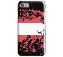 Austria Flag Ink Splatter iPhone Case/Skin