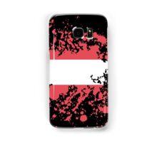 Austria Flag Ink Splatter Samsung Galaxy Case/Skin