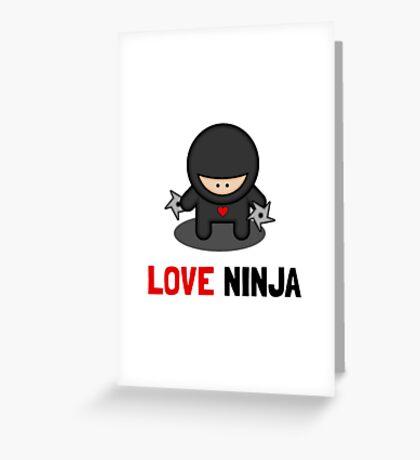 Love Ninja Greeting Card