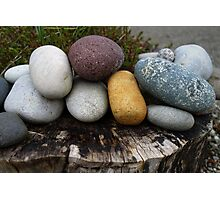 A cluster of stones Photographic Print