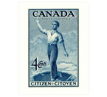 Canada postage stamp, 1947, citizen Art Print