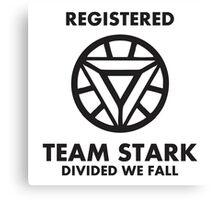 Registered Team Stark 2016 Canvas Print
