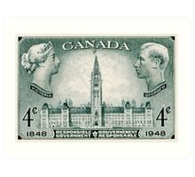 Canada postage stamp, 1948, responsible government Art Print