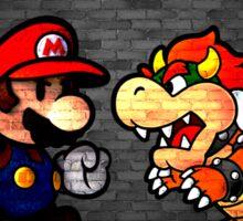 Mario vs Bowser. Sticker