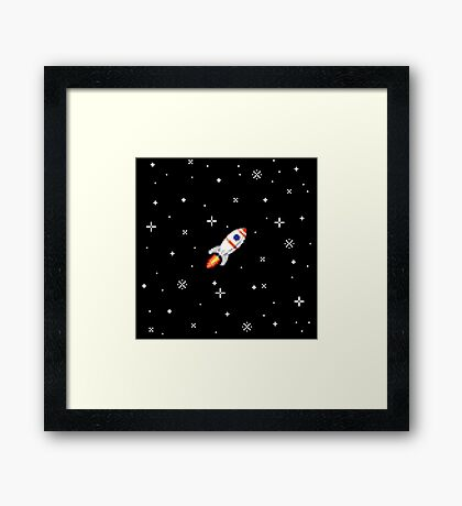 The little rocket that could Framed Print
