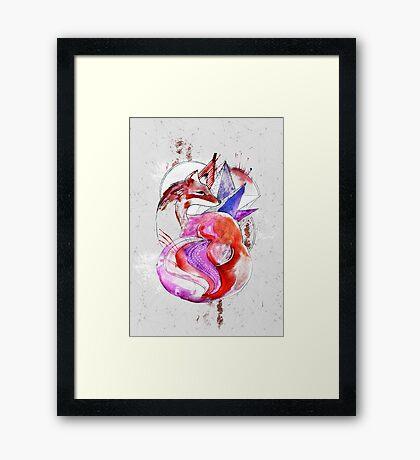 zorro rayado Framed Print
