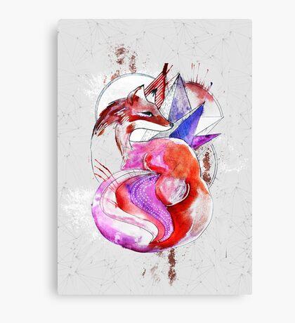 zorro rayado Canvas Print