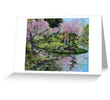 Cherry Blossoms Mayne Island Japanese Garden Greeting Card