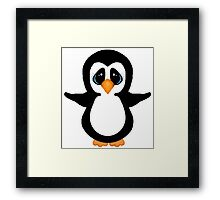 Cute Penguin Girl Framed Print