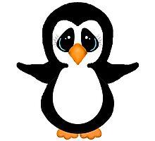 Cute Penguin Girl Photographic Print