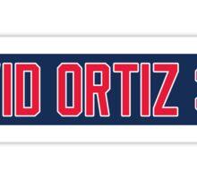 Red Sox David Ortiz 34 Sticker