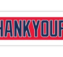 Red Sox #THANKYOUPAPI 34 Sticker