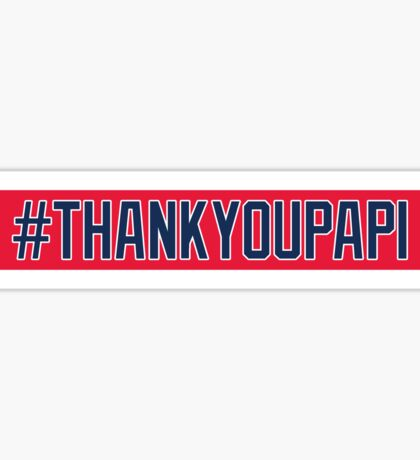 Red Sox #THANKYOUPAPI 34 Sticker