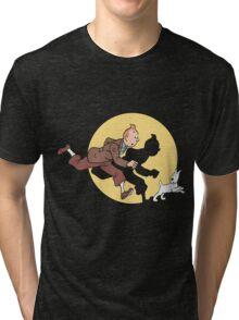 Tintin & Snowy Tri-blend T-Shirt