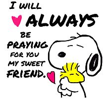 Snoopy Best Friend Quotes Photographic Print
