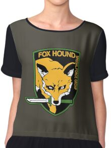 Metal Gear Solid - Fox Hound Emblem Chiffon Top