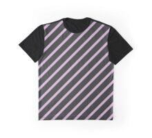 Stripes (Parallel Lines) - Purple Black  Graphic T-Shirt