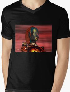 ARES CYBORG FROM HYPERION WORLD Sci-Fi Movie Mens V-Neck T-Shirt