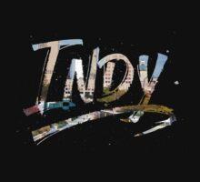 Indianapolis - Indy Grunge Brush Typography Kids Tee
