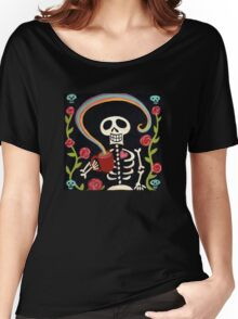 Rainbow Skelly Women's Relaxed Fit T-Shirt