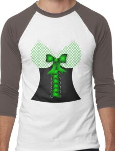 St patricks day vintage Irish traditional leprechaun corset  Men's Baseball ¾ T-Shirt