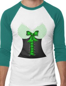 St patricks day vintage Irish traditional leprechaun corset  Men's Baseball ¾ T-Shirt
