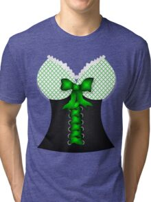 St patricks day vintage Irish traditional leprechaun corset  Tri-blend T-Shirt