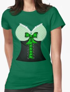 St patricks day vintage Irish traditional leprechaun corset  Womens Fitted T-Shirt
