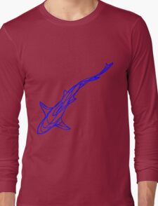 Blue shark Long Sleeve T-Shirt