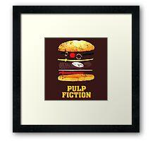Pulp Fiction Burger Framed Print