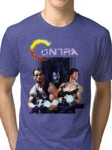 Contra Game Parody Tri-blend T-Shirt