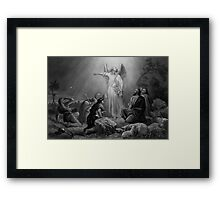 Gabriel Announcing The Birth Of Jesus  Framed Print