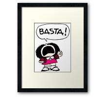Mafalda Una - Basta Framed Print