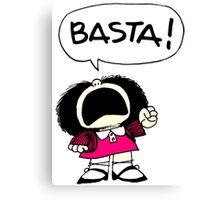Mafalda Una - Basta Canvas Print