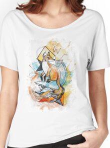 striped fox Women's Relaxed Fit T-Shirt