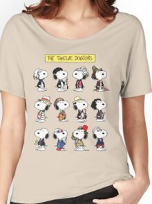 Snoopy Doctors Collage Women's Relaxed Fit T-Shirt