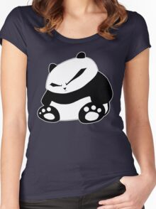 Angry Panda Women's Fitted Scoop T-Shirt