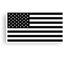 American Flag - Black and White Version Canvas Print