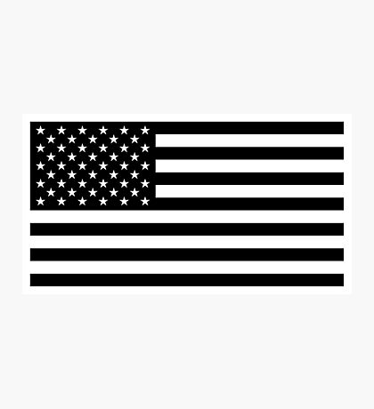 American Flag - Black and White Version Photographic Print