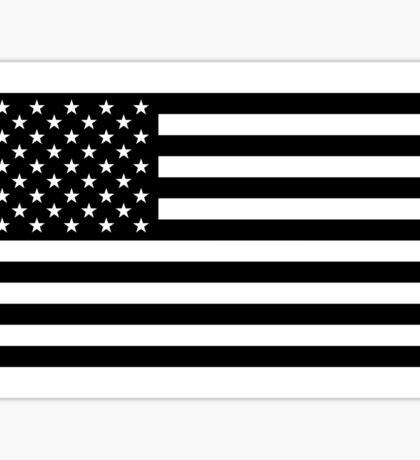 American Flag - Black and White Version Sticker